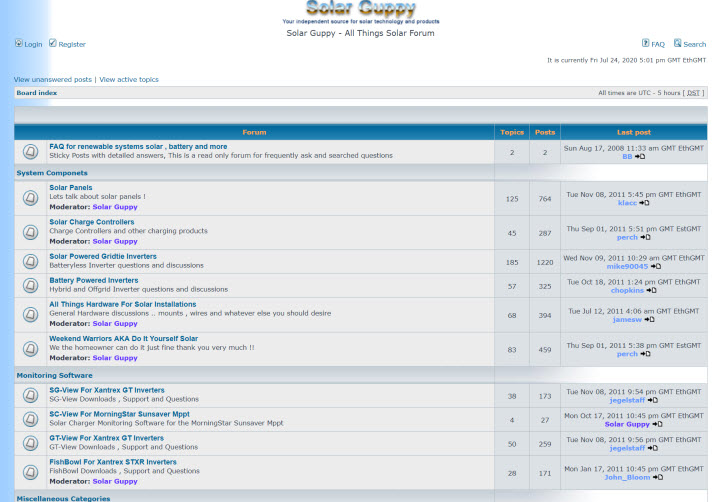 forum screen capture